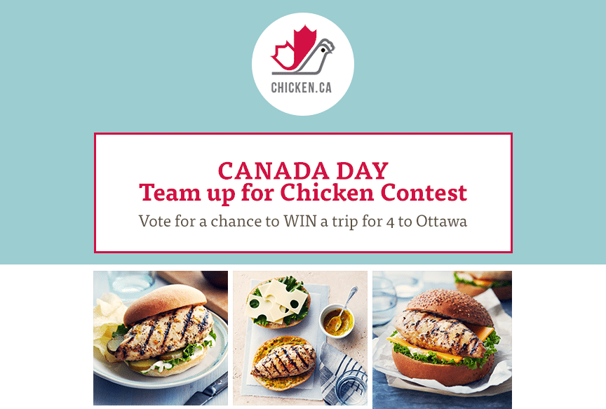 Enter to Win a Trip to Ottawa and More! #TeamCdnChicken