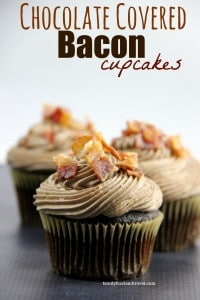 Chocolate Covered Bacon Cupcakes