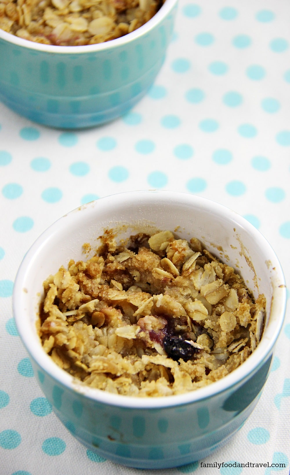 Pear and Blueberry Crisp