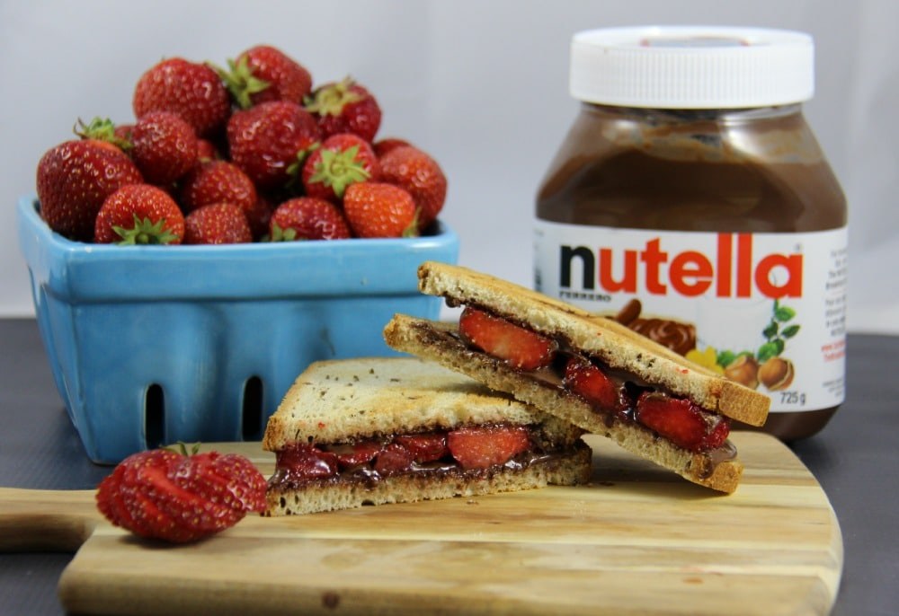 Toasted Nutella and Strawberries