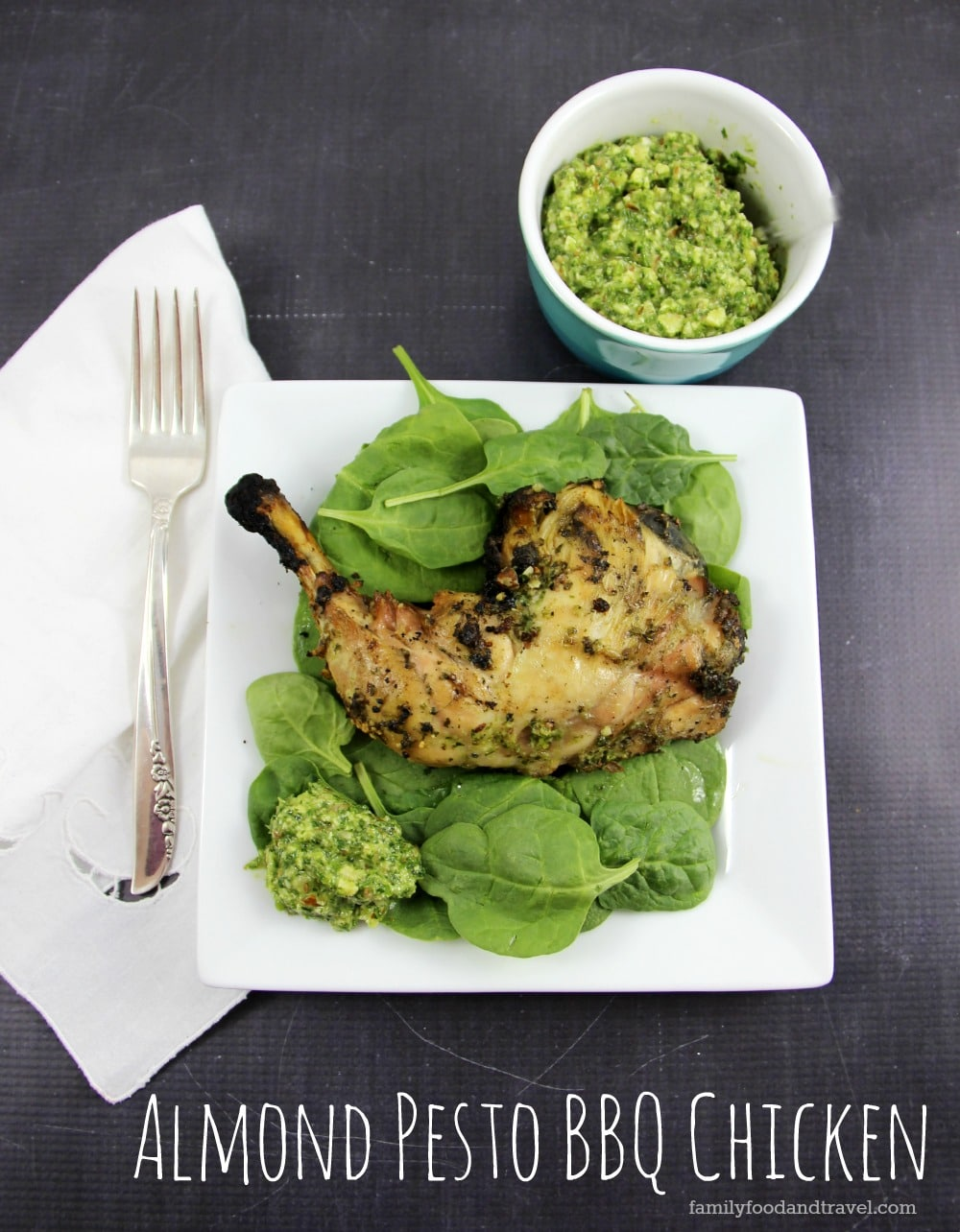 Almond Pesto BBQ Chicken