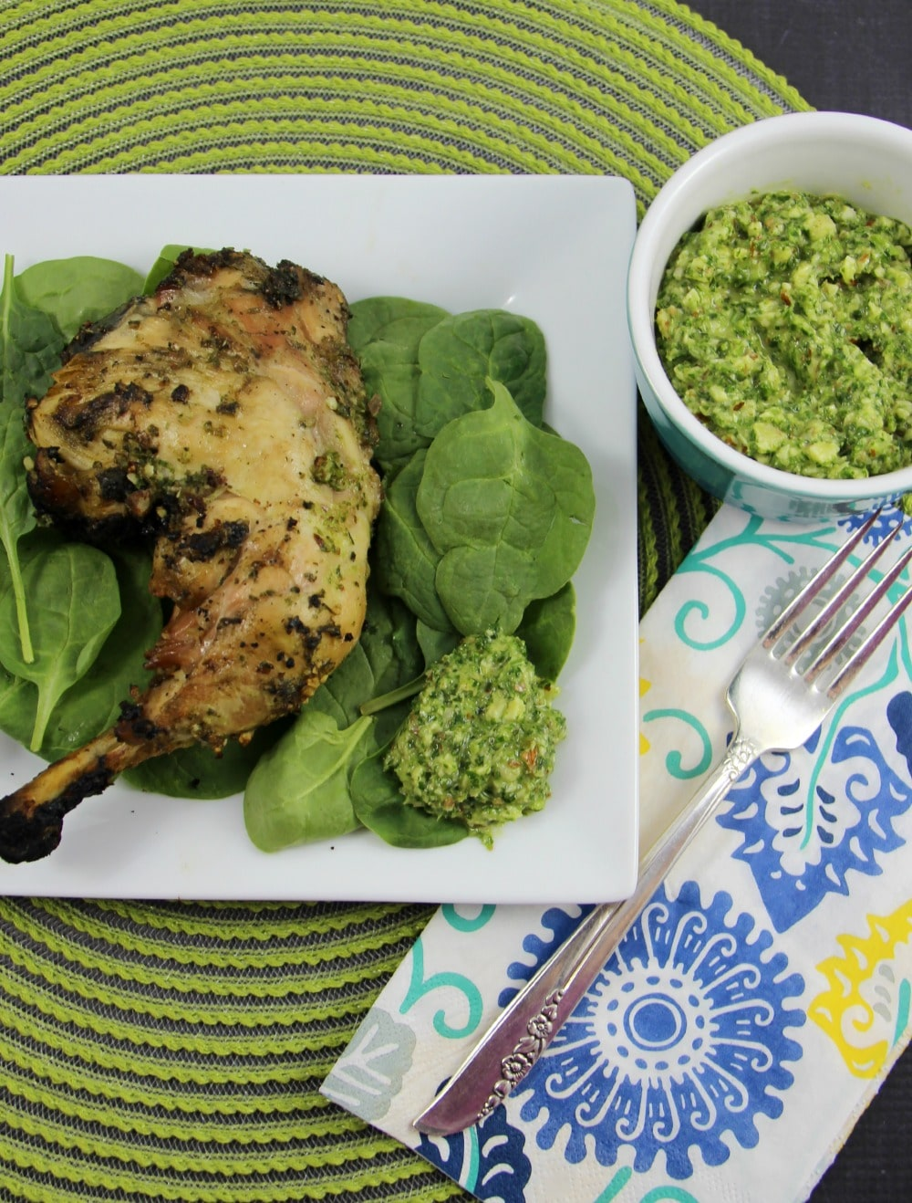 Grilled Chicken with Almond Pesto