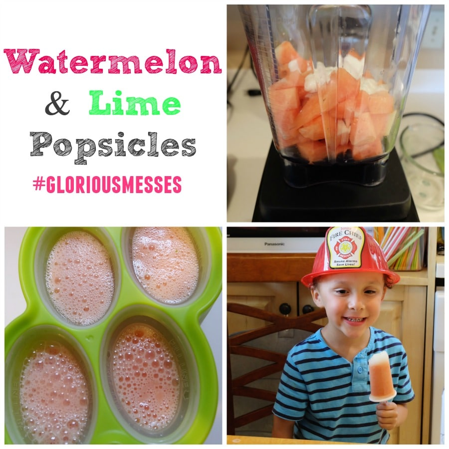 Watermelon and Lime Popsicles