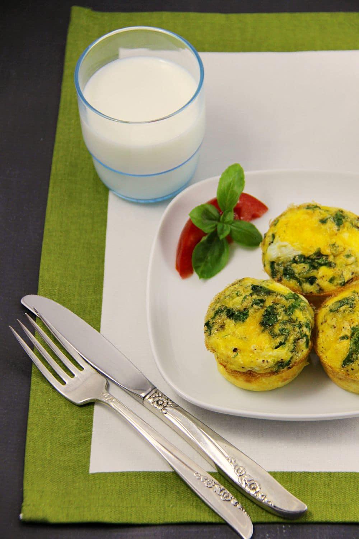 Freezable Ham Egg and Feta Muffins
