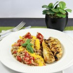Grilled Chicken with Tomato Mango and Quinoa Salad