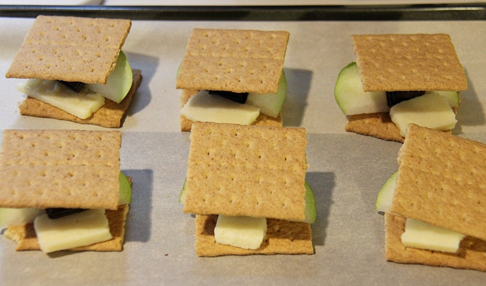 Pear and Cheddar Cheese Smores