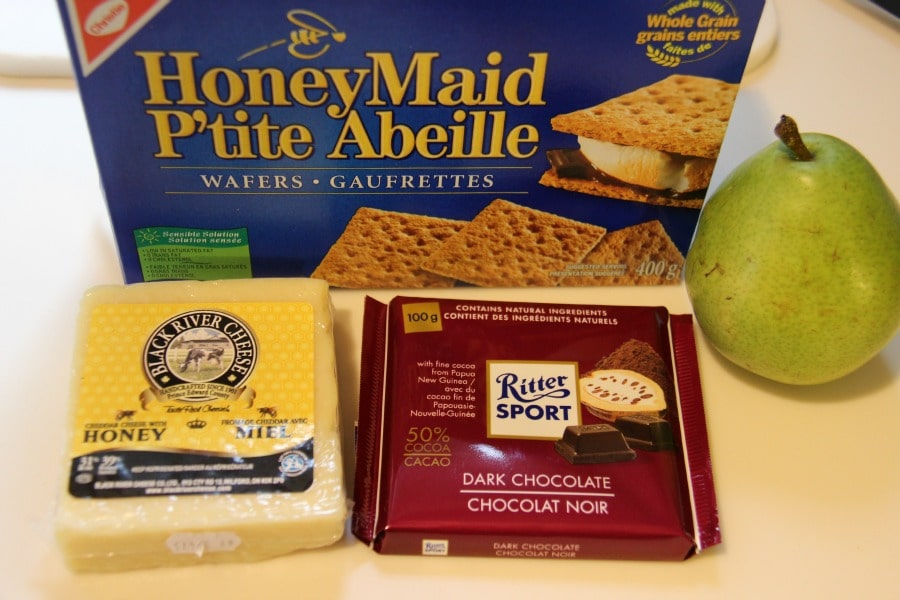 Ingredients for Pear and Cheese Smores