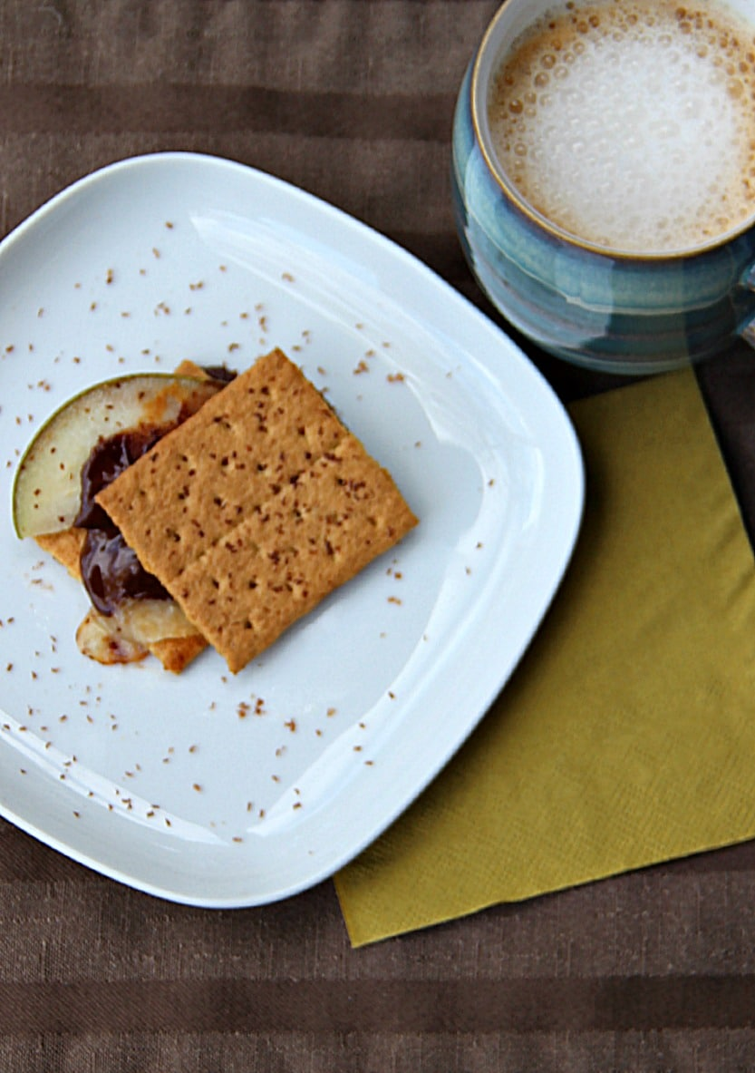 Pear and Cheddar Smores