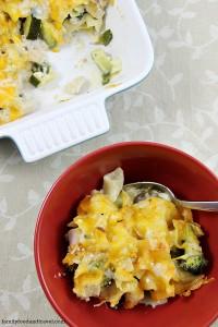 Poblano Pepper Broccoli and Chicken Casserole
