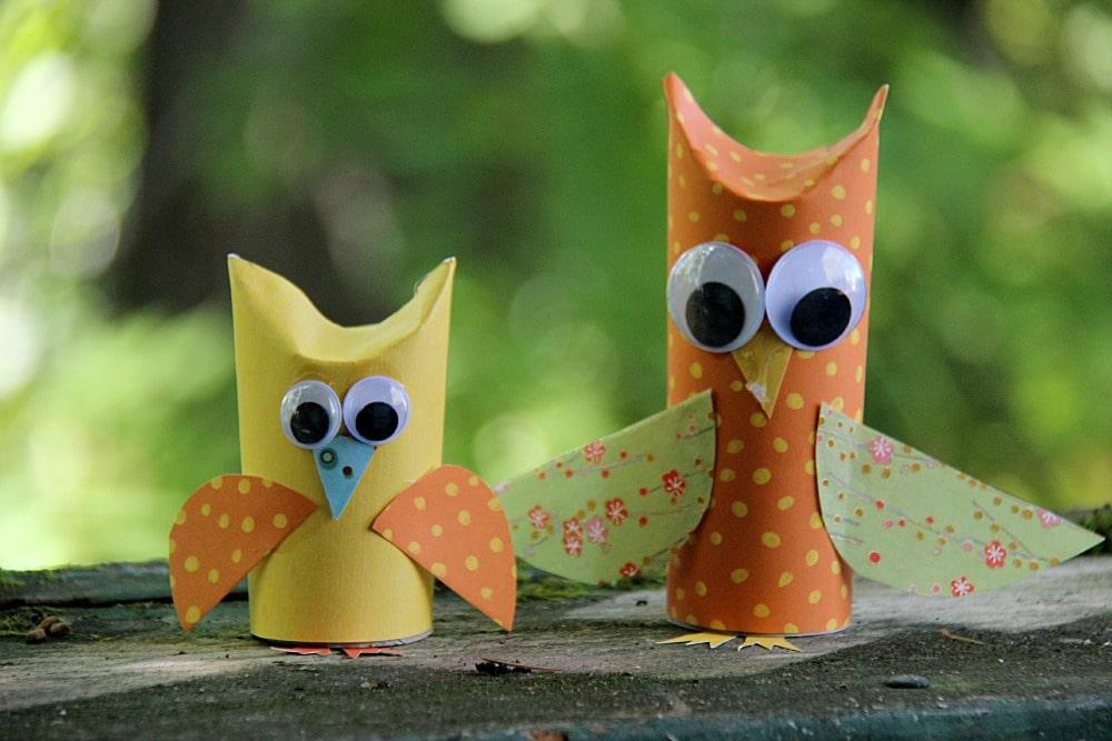 Paper Tube Owl Craft