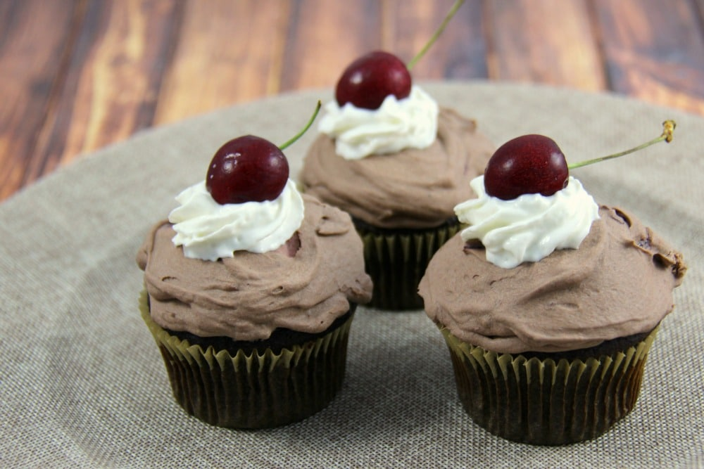 Chocolate Covered Cherry Cupcakes - Family Food And Travel