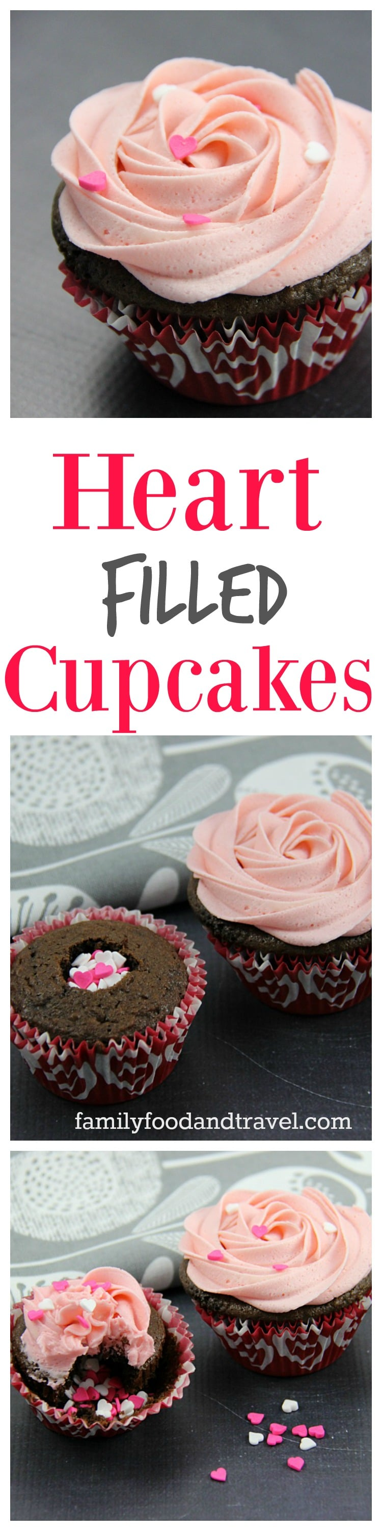 Heart Filled Cupcakes Collage 2
