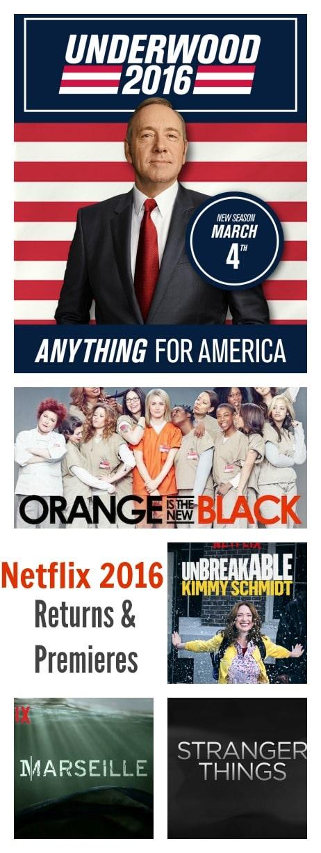 2016 Netflix premieres