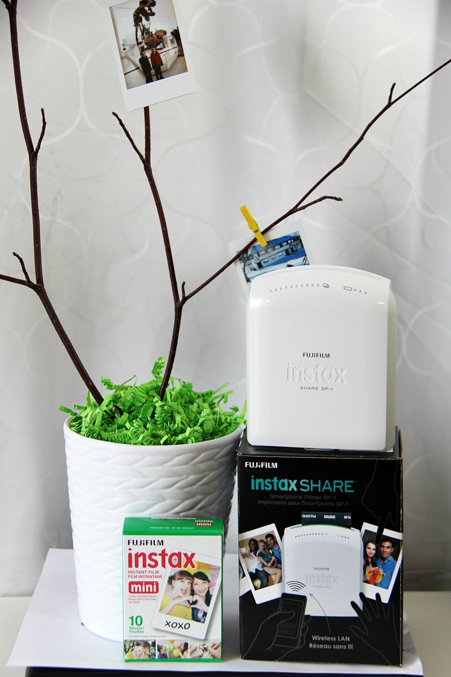 Natural Spring Photo Centerpiece Instax Printer