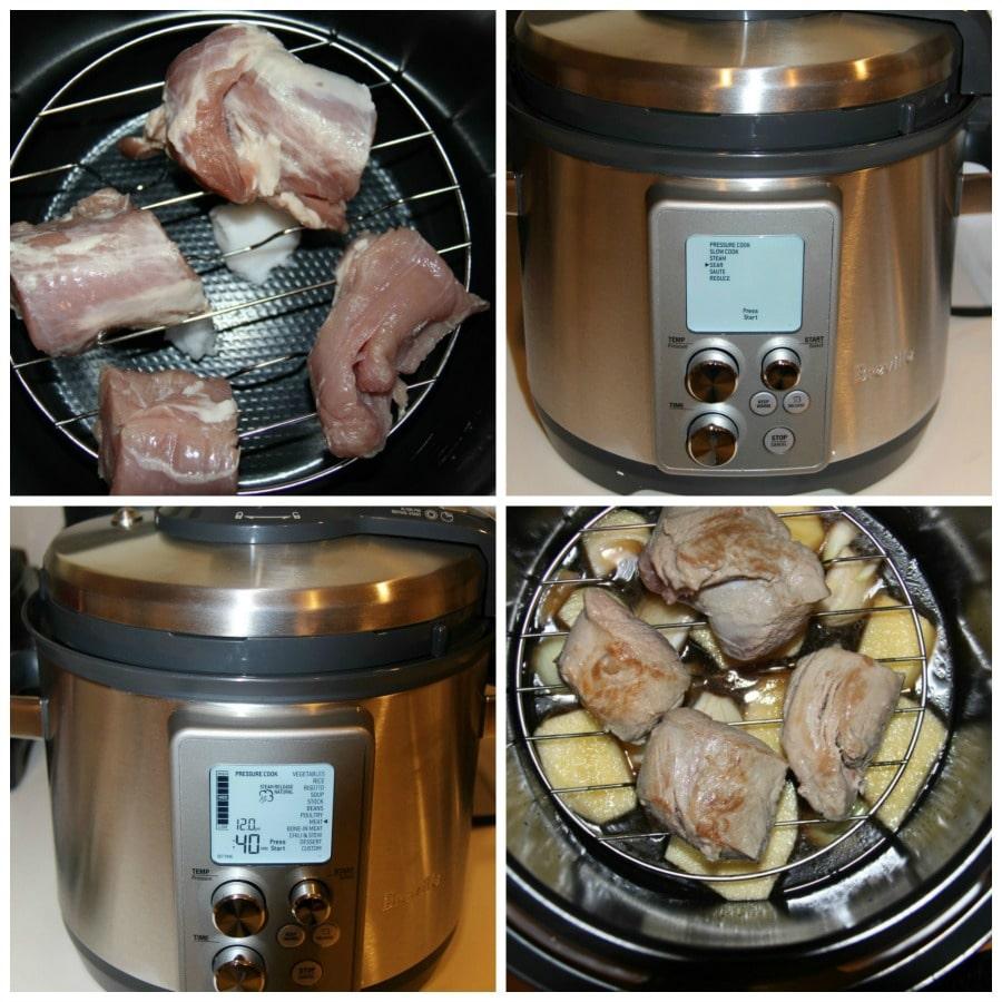 Pressure Cooker Pork Tenderloin With Apple Gravy
