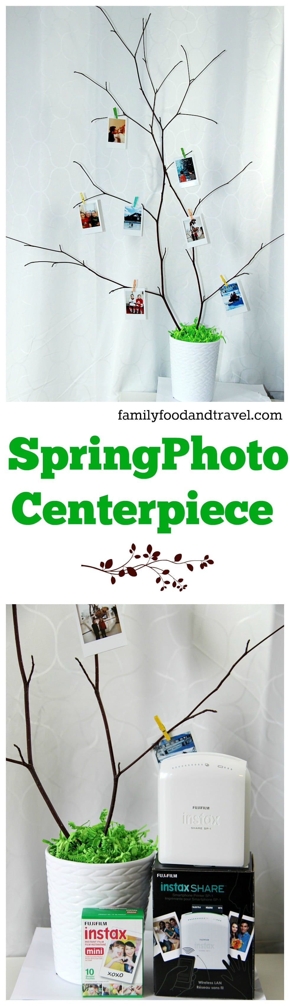 Spring Photo Centerpiece