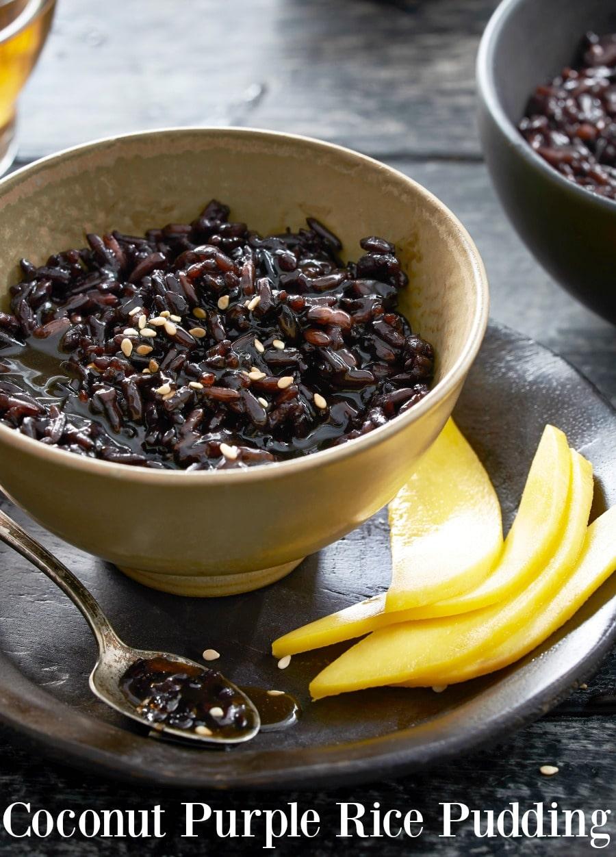 Coconut Purple Rice Pudding