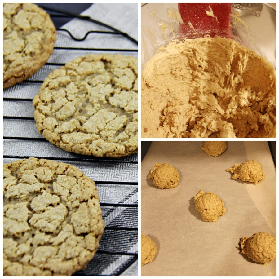 Peanut Butter and Honey Oatmeal Cookies Collage