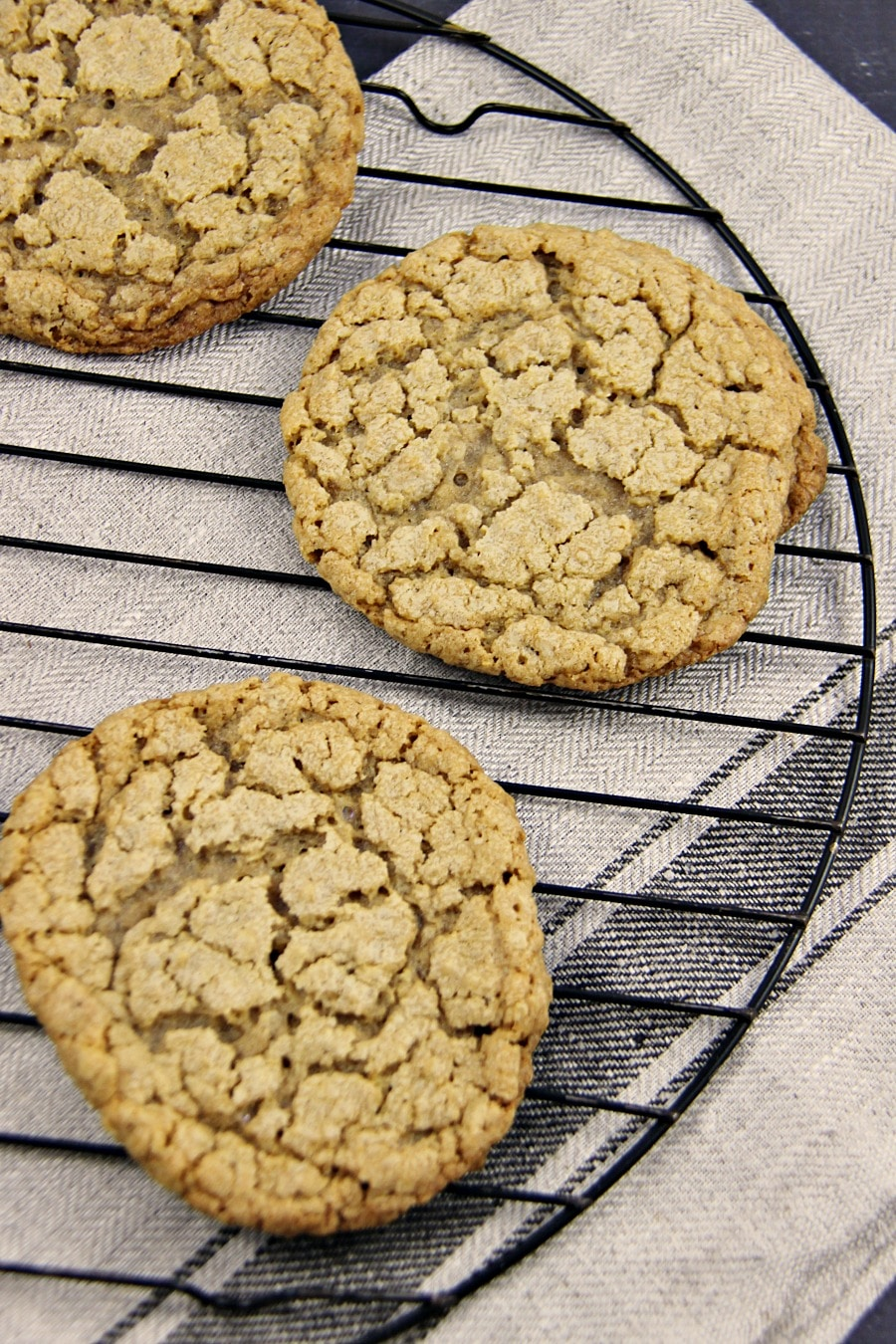 Peanut Butter and Honey Oatmeal Cookies