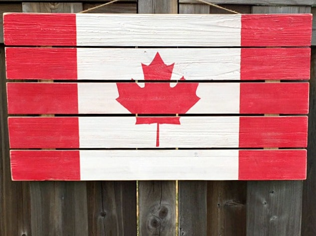 DIY Rustic Wooden Flag