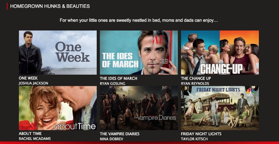 Canadian Hunks and Beauties on Netflix