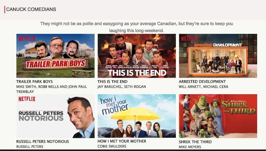 Canuck Comedians Netflix