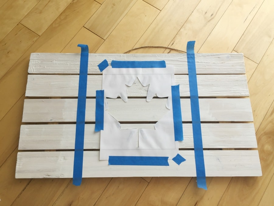 DIY Rustic Wooden Flag