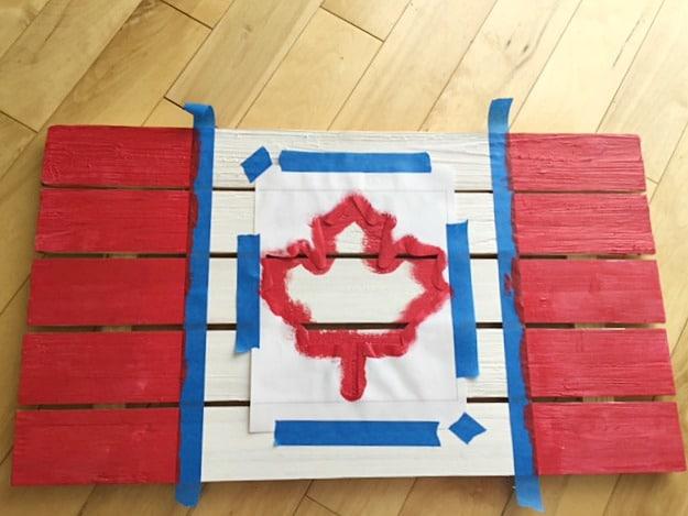 DIY Rustic Wooden Flag 3