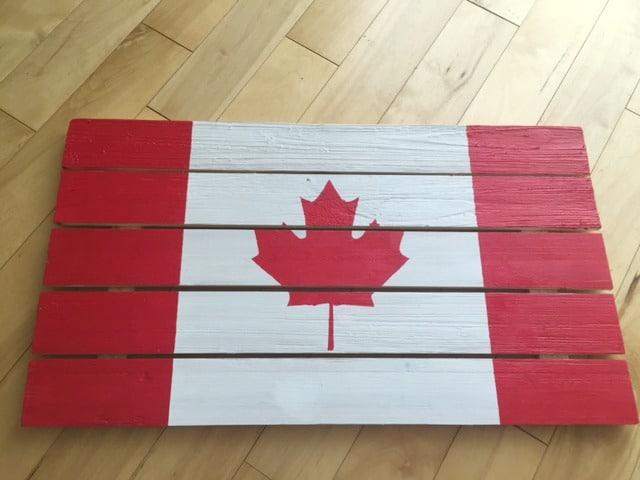DIY Rustic Wooden Flag 4