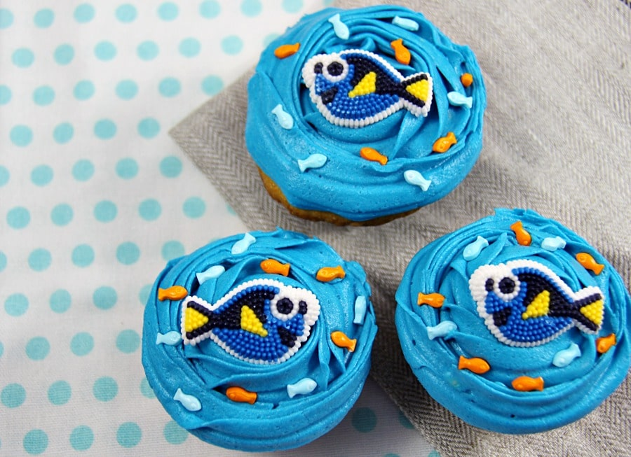 Finding Dory Cupcakes - Family Food And Travel
