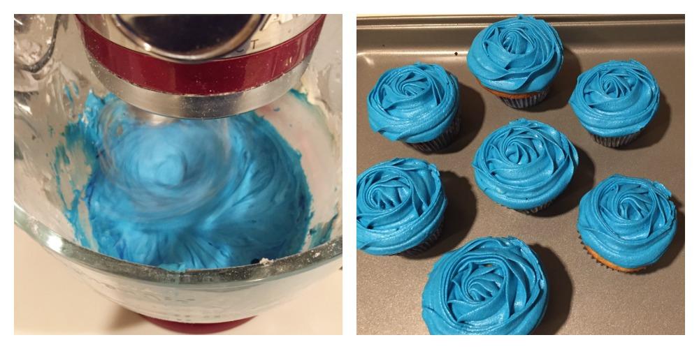Finding Dory Cupcakes Process
