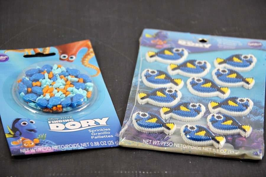 Finding Dory Cupcakes Supplies 2