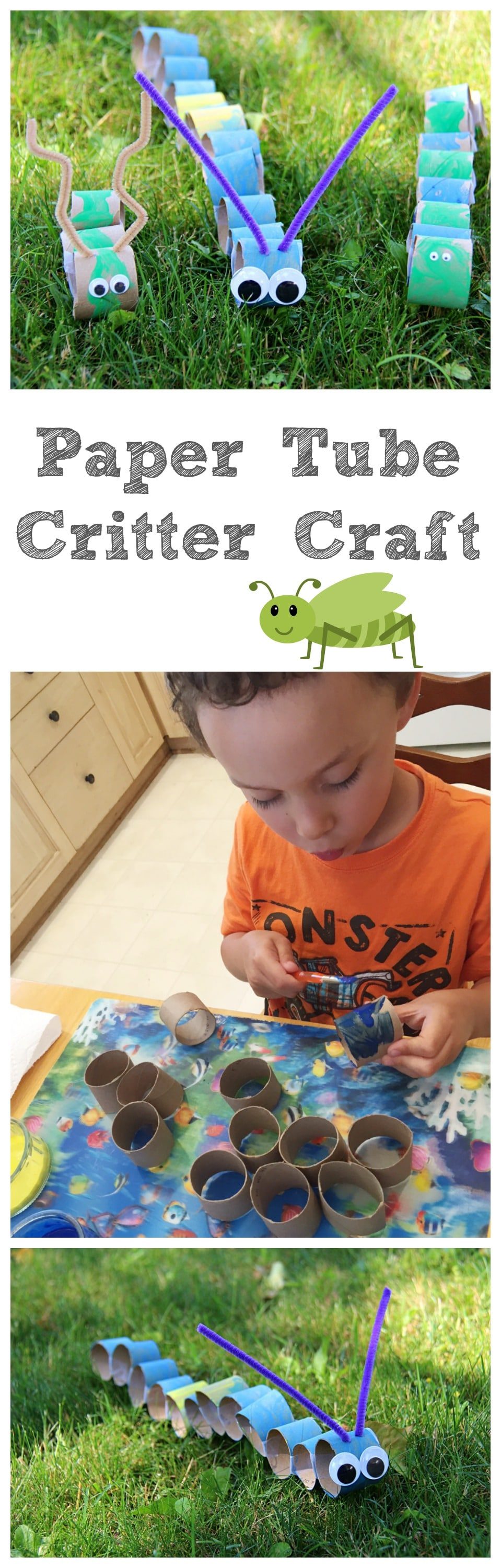 Paper Tube Critter Craft Collage