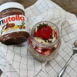 Chia Banana Strawberry Breakfast Jar with Nutella