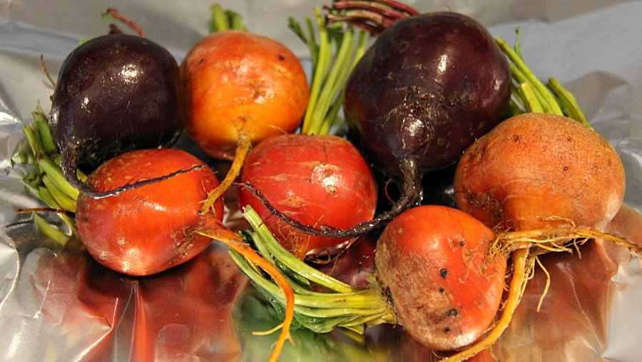 Beets ready for roasting