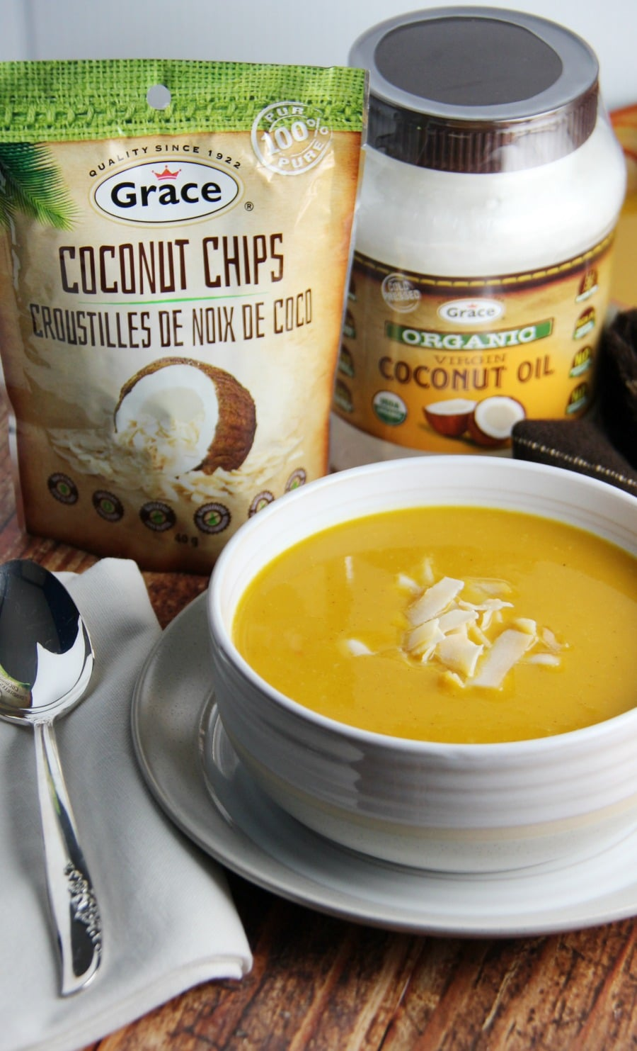Slow Cooker Butternut Squash and Apple Soup with Coconut Milk