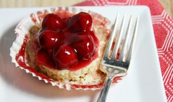 Cherry Mini Cheesecakes