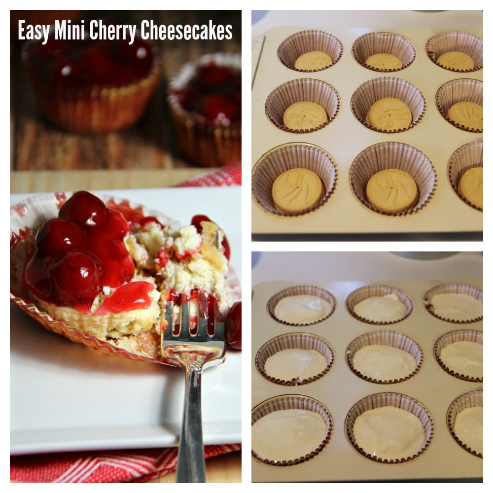 Cherry Mini Cheesecakes