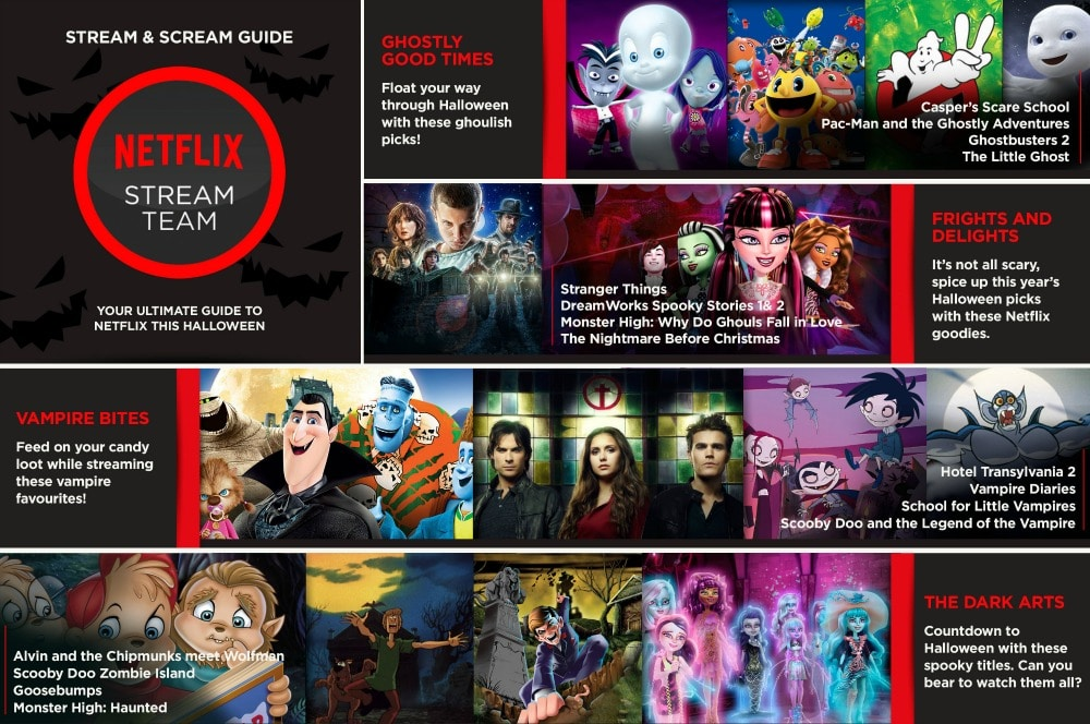 Stream and Scream Halloween with Netflix this October