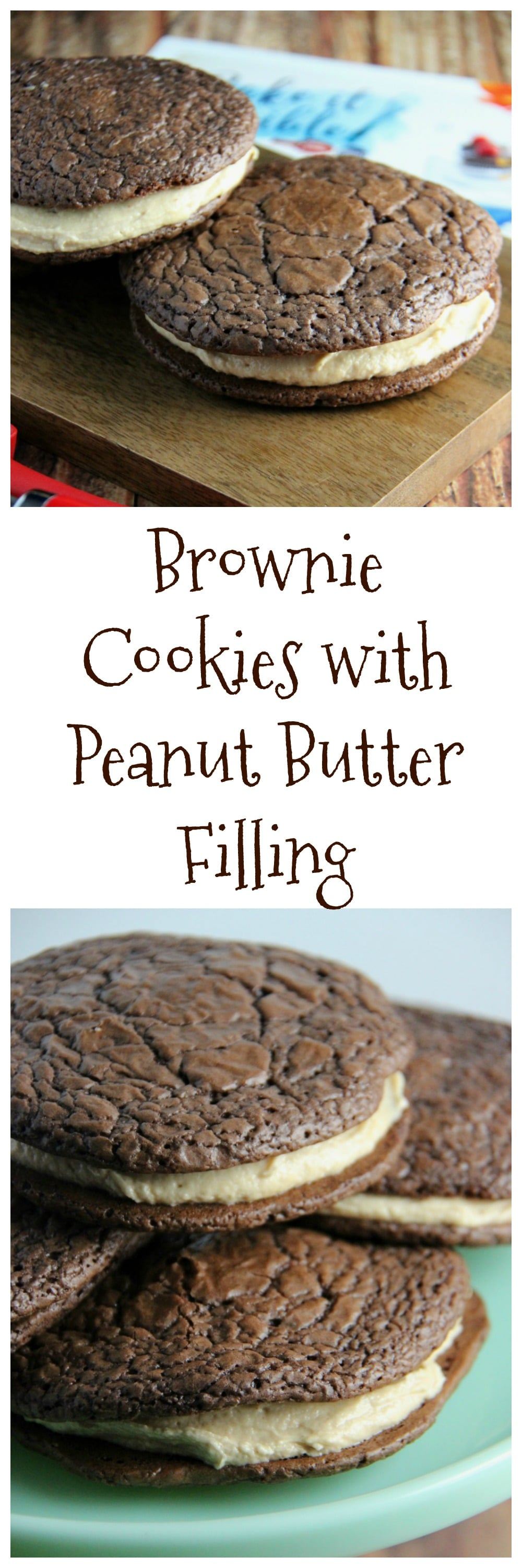 Brownie Cookie with Peanut Butter Filling