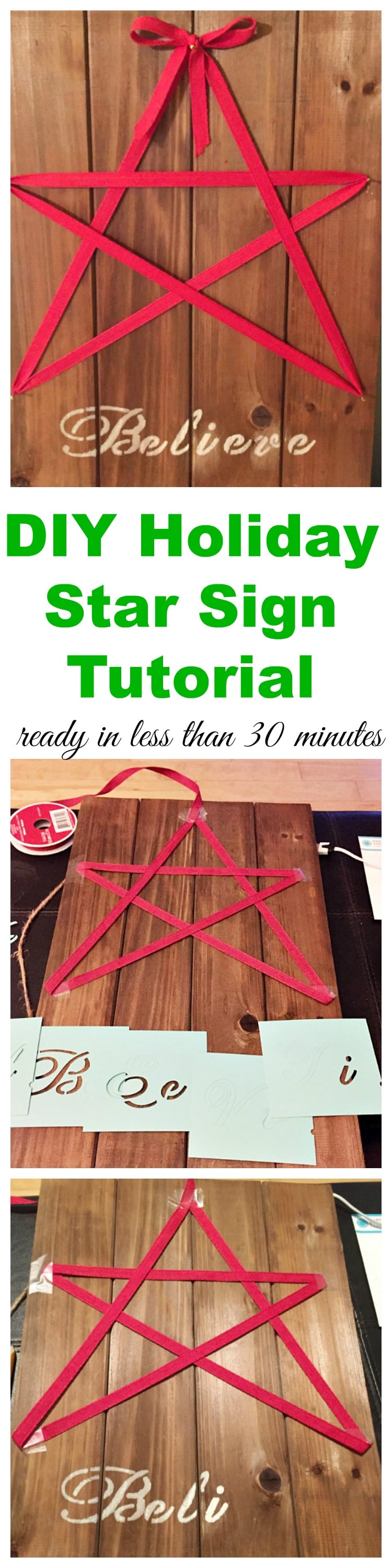 DIY Holiday Star Sign Tutorial