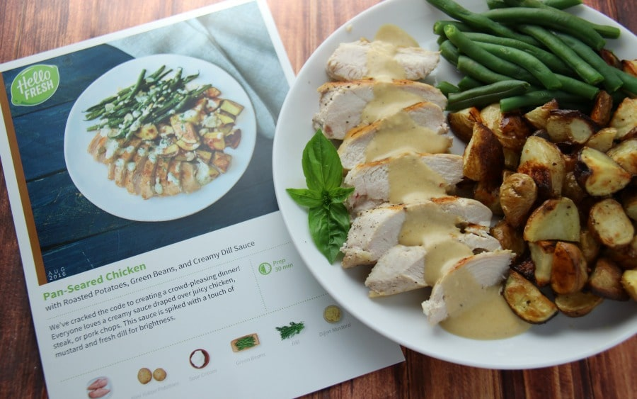 Hello Fresh Family Box Pan Seared Chicken