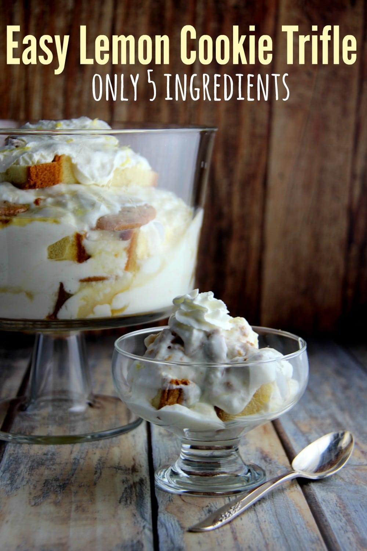 Easy Lemon Cookie Trifle Recipe