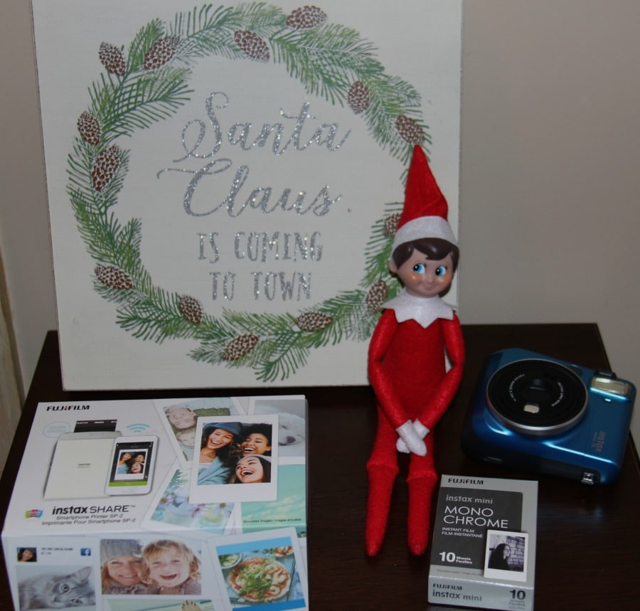 Elf on the Shelf Ideas with Fuji Instax