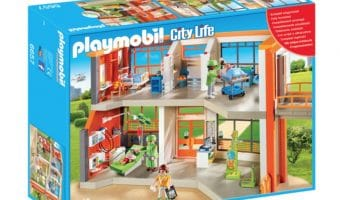 Imaginative Play with Playmobil Pony Farm and Furnished Children's Hospital