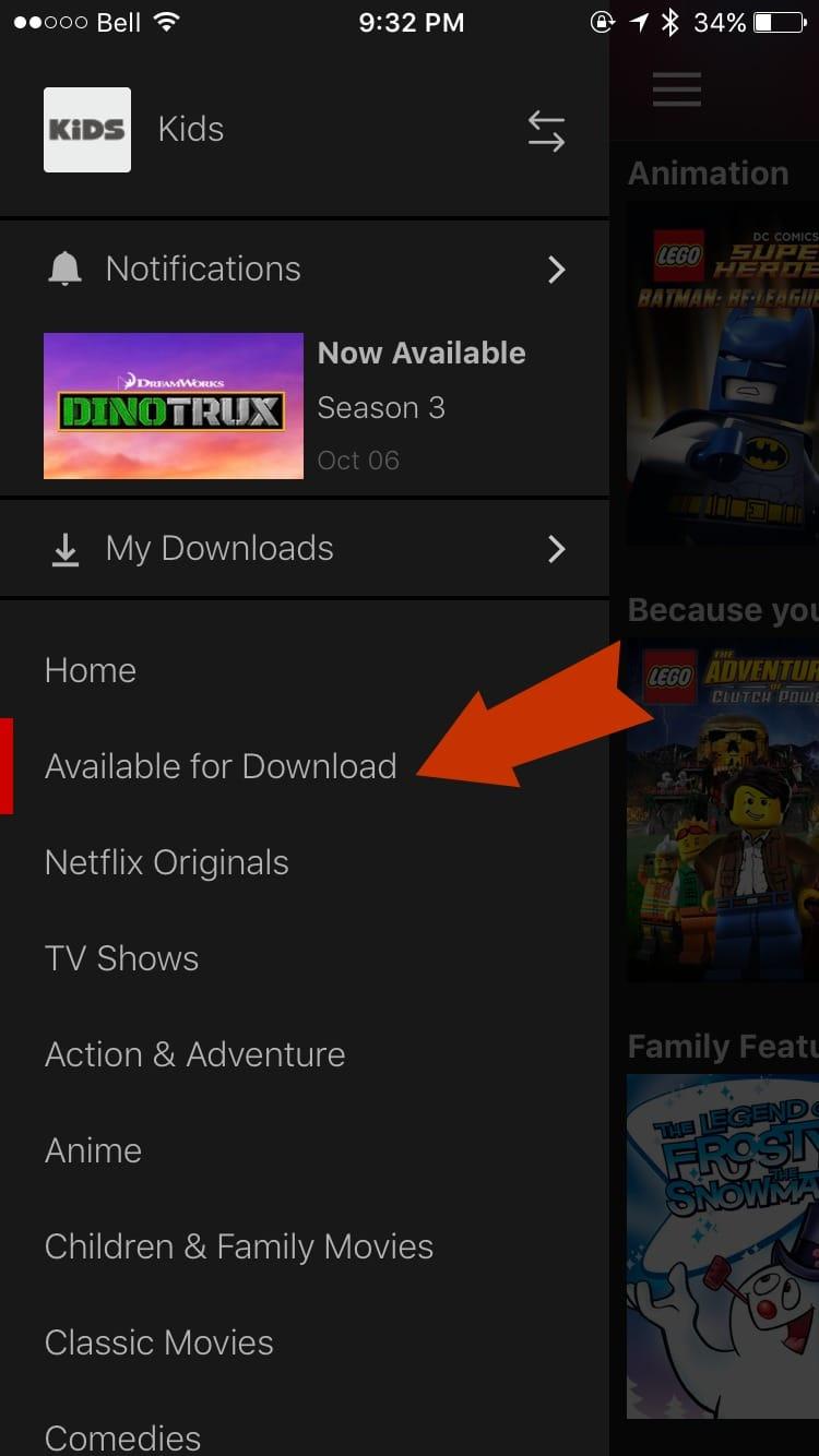 Downloading Netflix