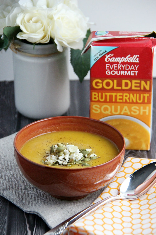 Campbells Golden Butternut Squash Soup Gourmet soup at home