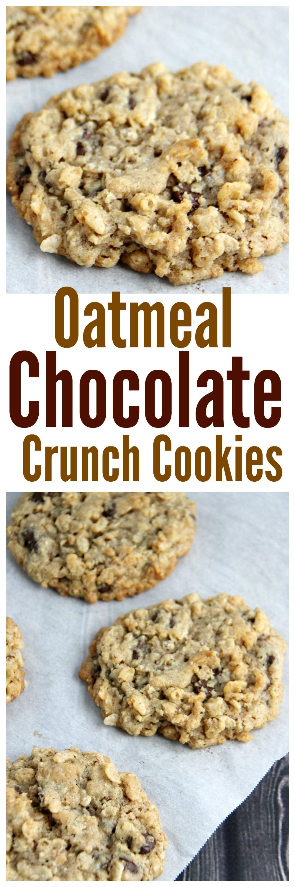 Oatmeal Chocolate Crunch Cookies