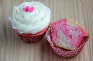 Pink Marble Cupcakes