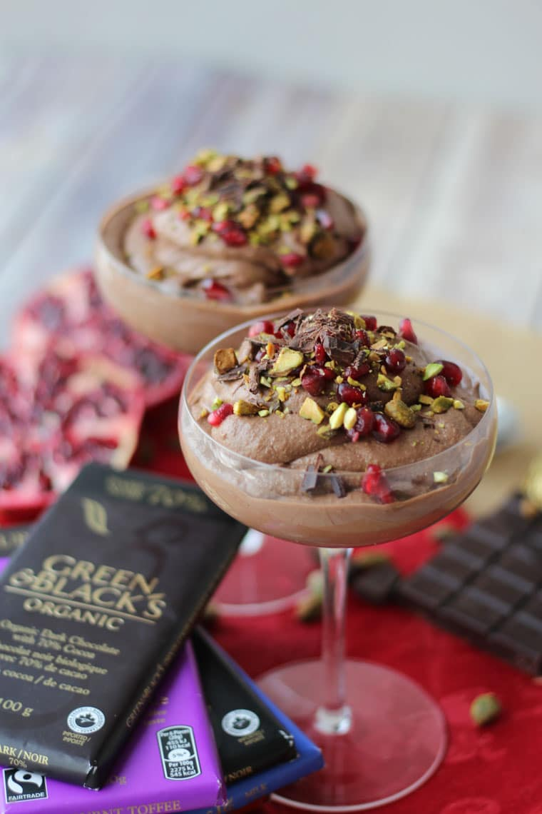 chocolate tahini mousse
